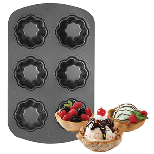 Wilton 6 Cavity Non-Stick Ice Cream Cookie Pan - bakeware bake house kitchenware bakers supplies baking
