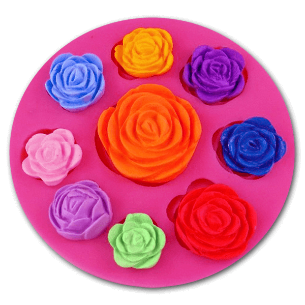 Nine Rose Silicone Mold - bakeware bake house kitchenware bakers supplies baking