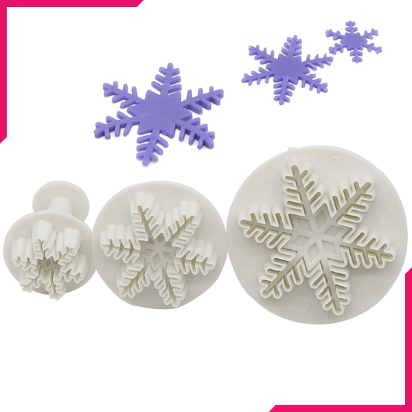 Mini Plunger Cutter Snow Flake - bakeware bake house kitchenware bakers supplies baking