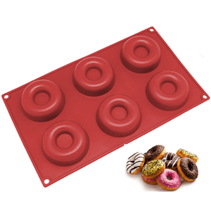 Silicone donut tray - 6 cavity - bakeware bake house kitchenware bakers supplies baking