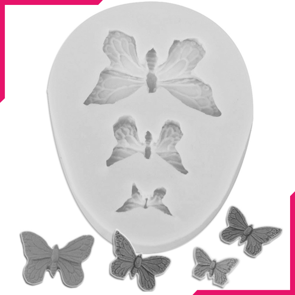 Silicone Mold Butterfly 3 Cavity - bakeware bake house kitchenware bakers supplies baking