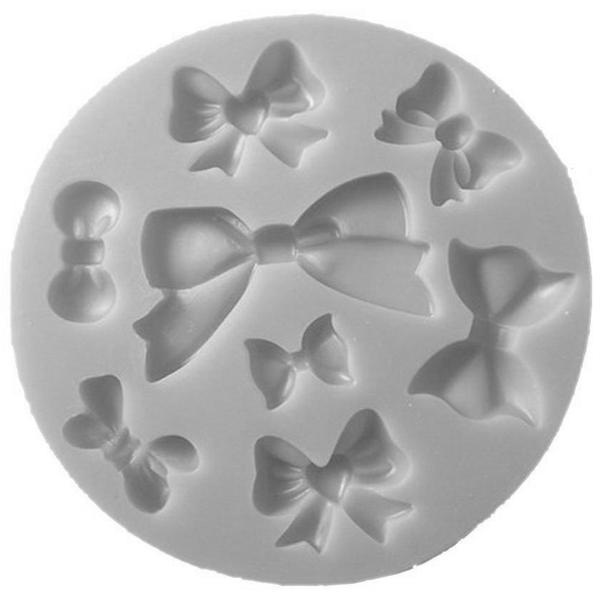 Mini Bows Silicone Mold 8 Cavity - bakeware bake house kitchenware bakers supplies baking