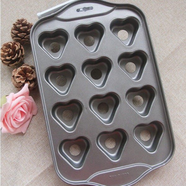 Deluxe 12 Mini Cheesecake pan nonstick - Heart