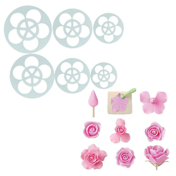 5 Petal Flower Cutter - 6 pcs - bakeware bake house kitchenware bakers supplies baking