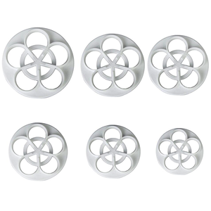 5 Petal Flower Cutter - 6 pcs