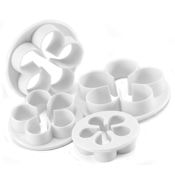 5 Petal Flower Cutter - 4 pcs - bakeware bake house kitchenware bakers supplies baking