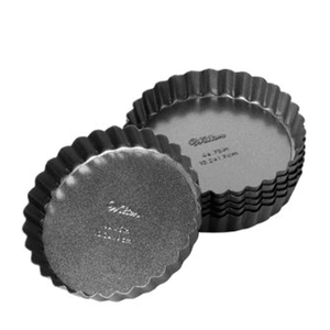 "Wilton Round Tart / Quiche Pan 4"" 6pcs - bakeware bake house kitchenware bakers supplies baking"