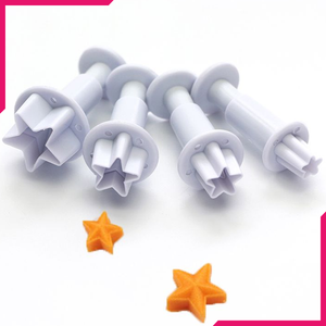 Plunge Cutter Star - 4 Pcs - bakeware bake house kitchenware bakers supplies baking