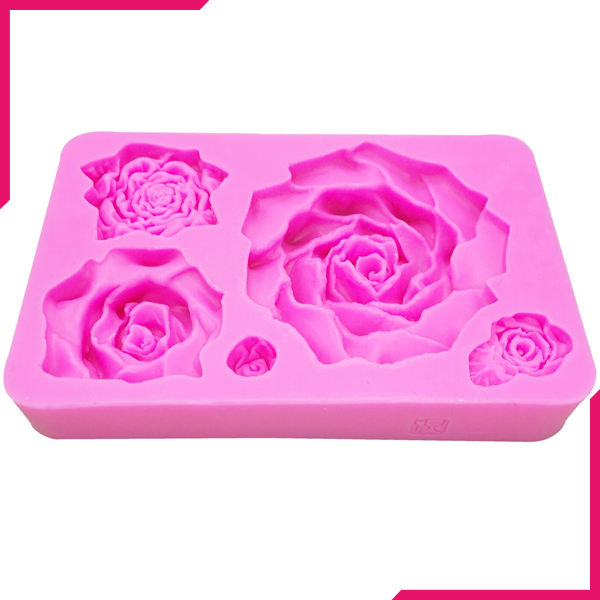 Pink Mould Large Roses - bakeware bake house kitchenware bakers supplies baking