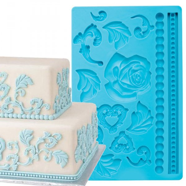 Fondant Silicone Mould Flowers & Beads - bakeware bake house kitchenware bakers supplies baking