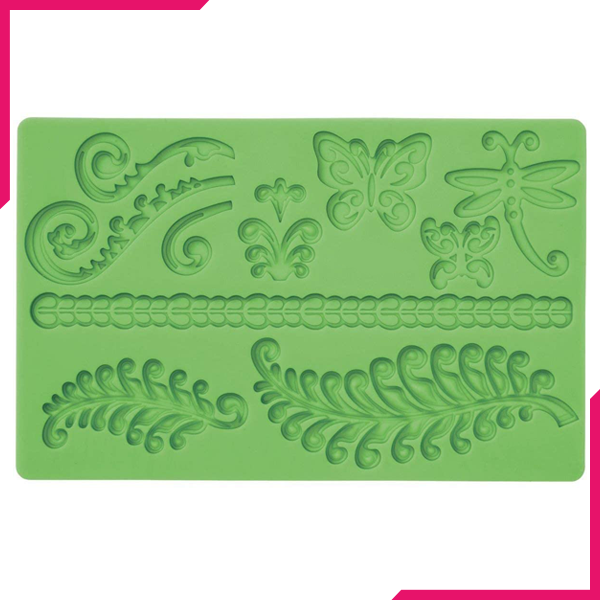 Fondant Silicone Mould Butterfly & Lace - bakeware bake house kitchenware bakers supplies baking