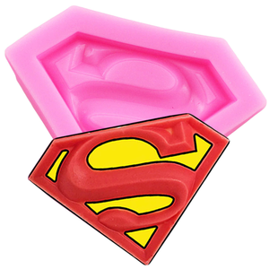 Pink Superman Logo Fondant Mould - bakeware bake house kitchenware bakers supplies baking