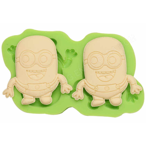 Two Minions Silicone Mould - bakeware bake house kitchenware bakers supplies baking
