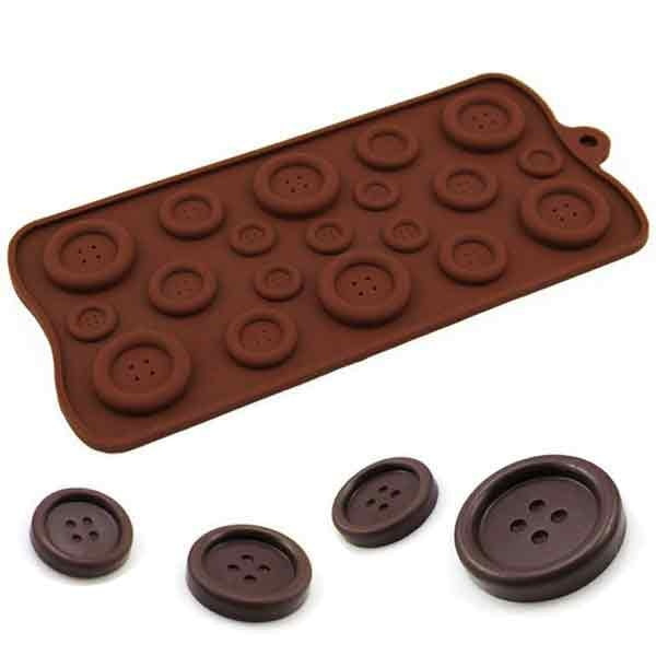 Button Shaped Silicone Mould