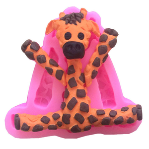 3D Silicone Baby Giraffe Fondant Mould - bakeware bake house kitchenware bakers supplies baking