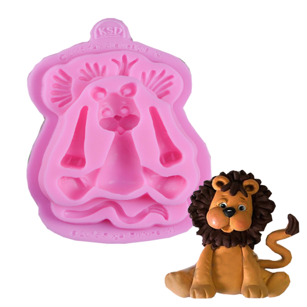 3D Silicone Baby Lion Fondant Mould - bakeware bake house kitchenware bakers supplies baking