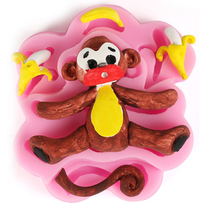 3D Silicone Baby Monkey Fondant Mould - bakeware bake house kitchenware bakers supplies baking