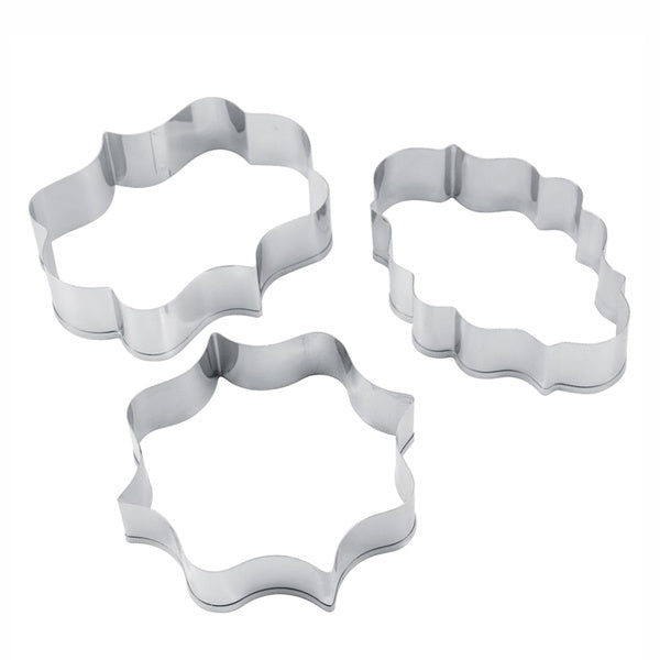 Stainless Steel Wishes Cookie & Fondant Cutter 3pcs Set - bakeware bake house kitchenware bakers supplies baking