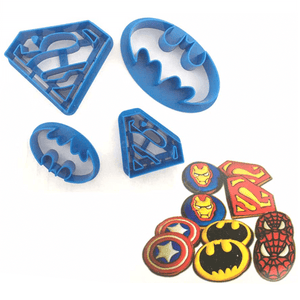 Batman & Superman Cookie & Fondant Cutter 4pcs