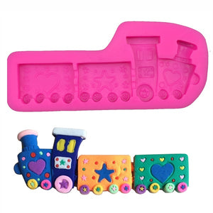 Silicone Small Cartoon Train - bakeware bake house kitchenware bakers supplies baking