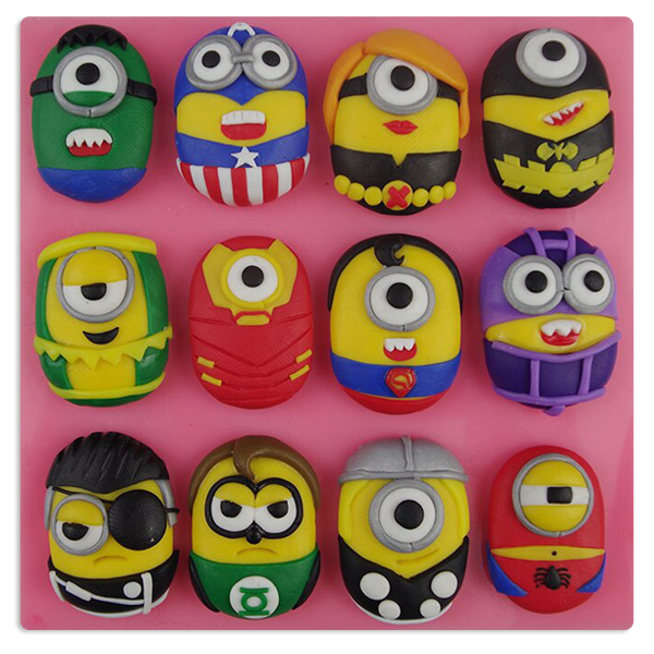 Mini Minion Silicone mould 12 Styles - bakeware bake house kitchenware bakers supplies baking