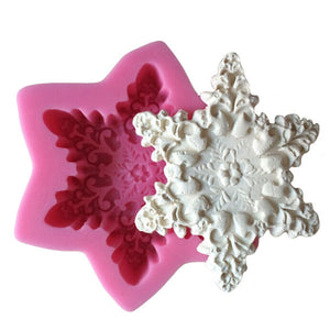 Snow Flake Chocolate Candy 3D Mould