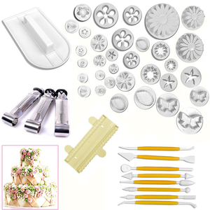 46pcs Pastry, Fondant & Cake Tools Set - bakeware bake house kitchenware bakers supplies baking