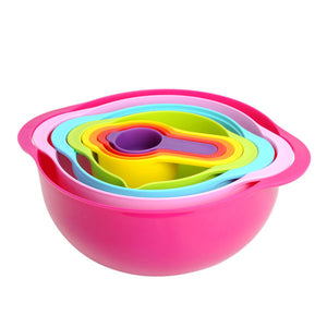 Sweet Color Mixing Bowl 10Pcs Set - bakeware bake house kitchenware bakers supplies baking