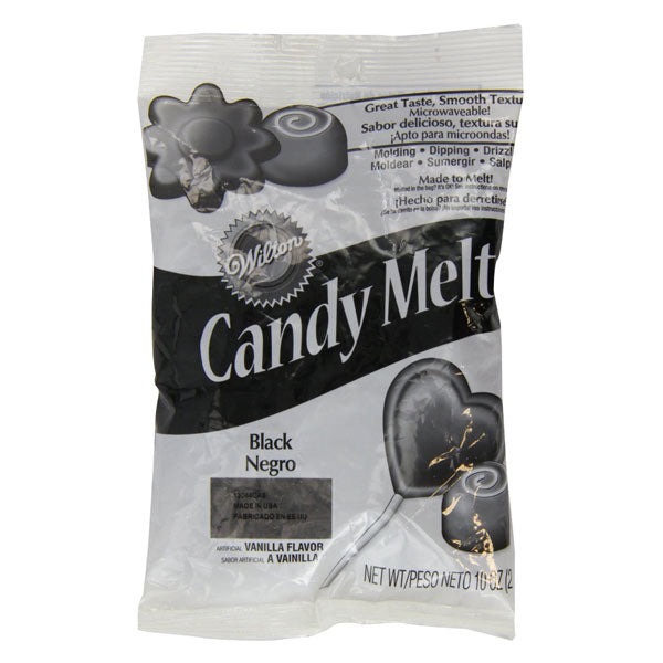Wilton Black Candy Melts 283gms - bakeware bake house kitchenware bakers supplies baking