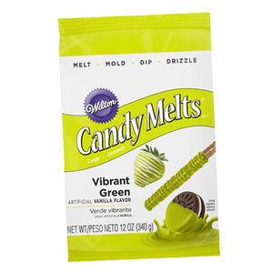 Wilton Vibrant Green Candy Melts 340gms - bakeware bake house kitchenware bakers supplies baking