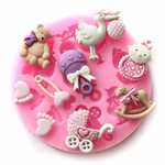 Silicone Mould Baby Girl Items - bakeware bake house kitchenware bakers supplies baking