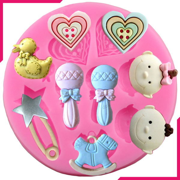 Silicone Mould Baby Shower - bakeware bake house kitchenware bakers supplies baking