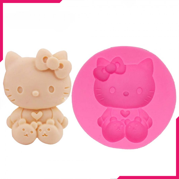 Silicone Mould Hello Kitty - bakeware bake house kitchenware bakers supplies baking