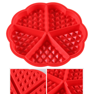 5 Cavity Heart Shaped Waffle Silicone Mould - bakeware bake house kitchenware bakers supplies baking