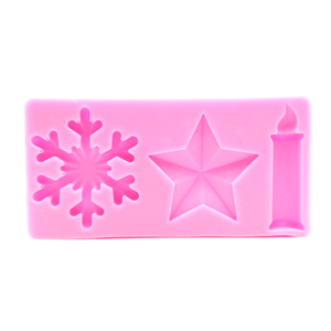 Silicone Mould Snowflake, Candle & Star - bakeware bake house kitchenware bakers supplies baking