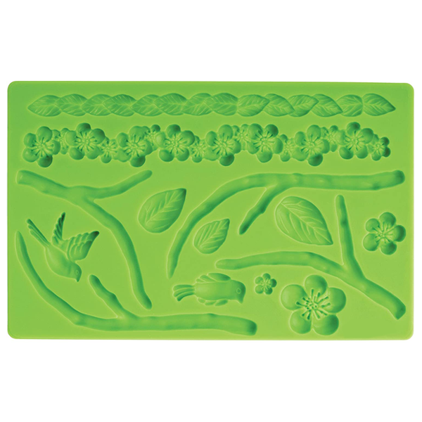 Flower Rope & Tree Fondant Silicone Mold - bakeware bake house kitchenware bakers supplies baking