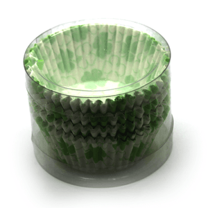 Cupcake Liners Green Flower Design