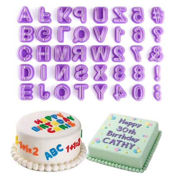 Numbers And Alphabets Fondant Cutouts - bakeware bake house kitchenware bakers supplies baking