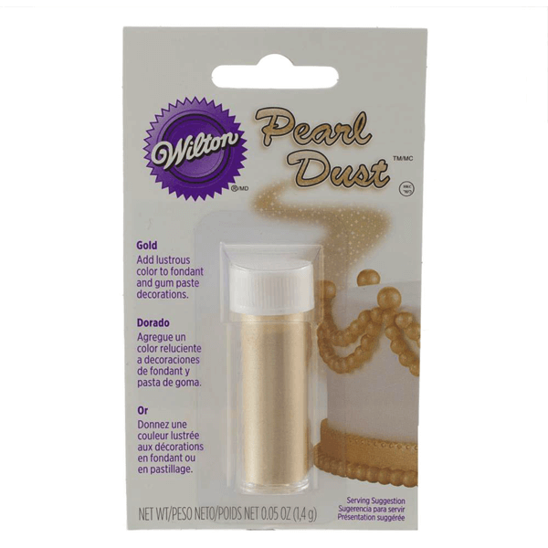 Wilton Gold Pearl Dust - bakeware bake house kitchenware bakers supplies baking