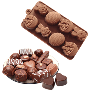 8 Easter Eggs And Rabbit Silicone Chocolate Decoration Mold