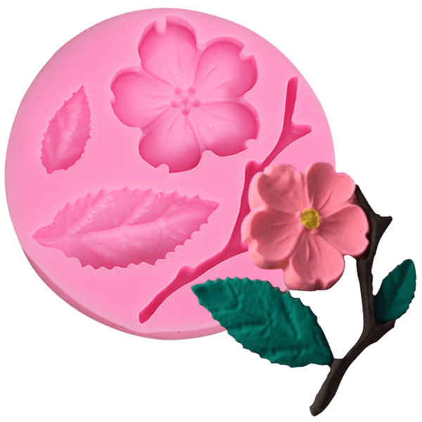 3D Silicone Fondant Mold Blossom - bakeware bake house kitchenware bakers supplies baking