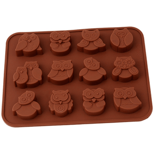 12 Owl Shape Silicone Chocolate Mold