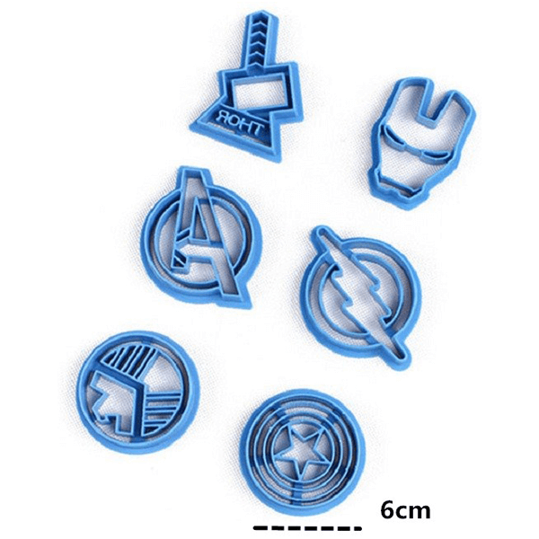 Avengers Super Hero Cookie Cutter 6 Pcs Set - bakeware bake house kitchenware bakers supplies baking