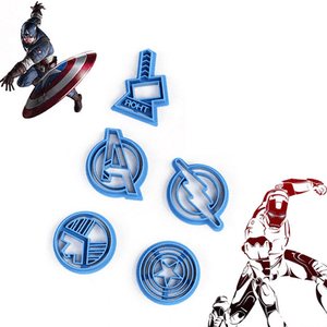 Avengers Super Hero Cookie Cutter 5 Pcs Set - bakeware bake house kitchenware bakers supplies baking