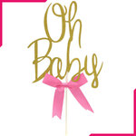 OH BABY Word Party Decoration Topper - bakeware bake house kitchenware bakers supplies baking