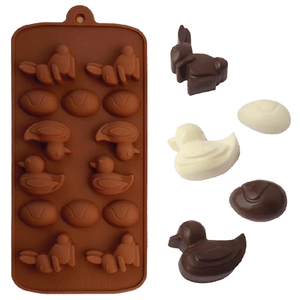 Chocolate Mold Easter Egg, Bunny & Rabbit