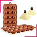Silicone Chocolate Mold Pyramid - bakeware bake house kitchenware bakers supplies baking