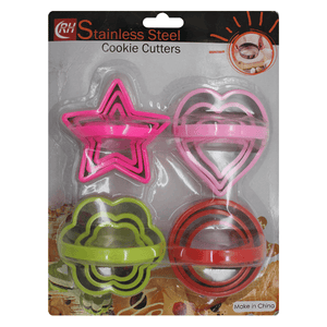 Cookie Cutter Set With Handle 4 Shapes