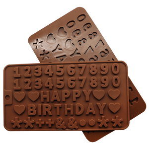 Chocolate Mold Happy birthday - bakeware bake house kitchenware bakers supplies baking