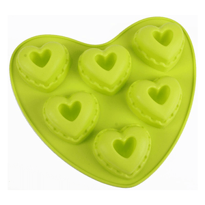 Heart Shape Silicone Cake Molds 6 Cavity - bakeware bake house kitchenware bakers supplies baking